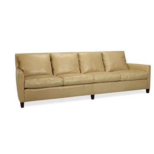 Delicieux Leather Four Seater Sofa