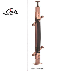 Designer Stainless Steel Wooden Railing Pillar