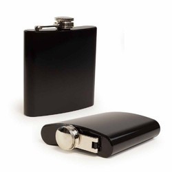 Black Color 7 Oz Hip Flask
