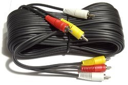 Pure Copper 3 RCA - 3 RCA Composite Audio Video AV Cable TV