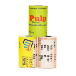 PULP POS Billing Rolls Width:54-57 mm Length:15 meter Blue Impression