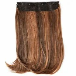Manya hairs Blonde, Black And Brown Clip Hair Extension, for Parlour
