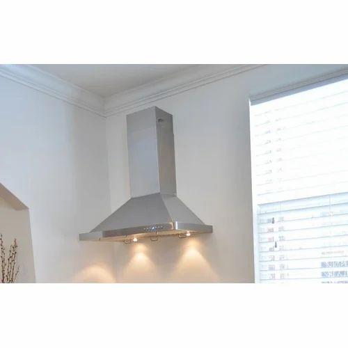 exhaust pipe kitchen chimney at rs 14000 piece ss kitchen chimney rh indiamart com