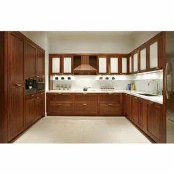 Wooden Modular Kitchen In Thrissur Kerala Wooden Modular Kitchen