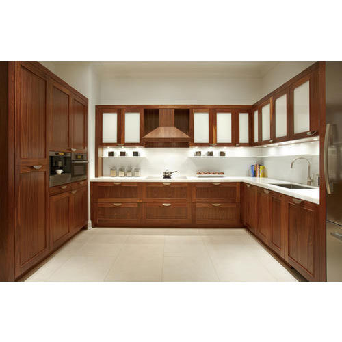Kitchen Accessories Kochi: Wooden Modular Kitchen At Rs 1390 /square Feet