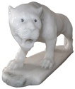 White Marble Tiger Statue