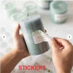 Multicolor Sticker, Packaging Type: Packet, Size: Customs