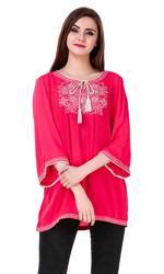 Rayon Embroidery Ladies Top