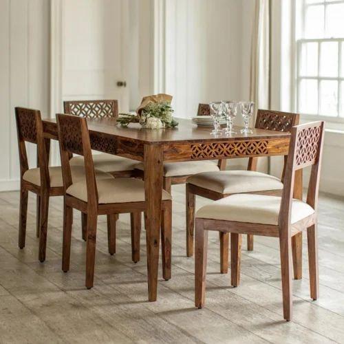 Charmant Sheesham Wood Dining Table Set