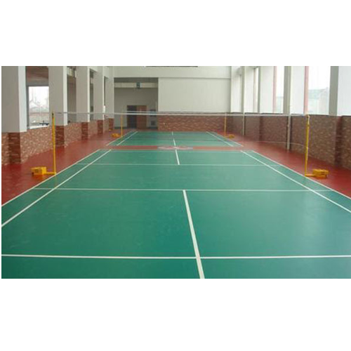 Acrylic Badminton Court Mat Floorings Size 250 X 250 X 12 7 Mm Rs
