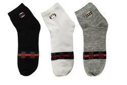 Branded Cotton Socks Pack of 3, Size: Free