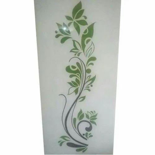 4*2 feet Printed Toughened Glass, Shape: Rectangle