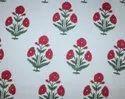 Mugal Boota Floral Block Printed Fabric