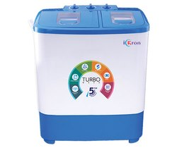 I-KRON Top Loading 6.8 KG Semi-Automatic Washing Machine