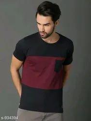 Mens Cotton Round T Shirts