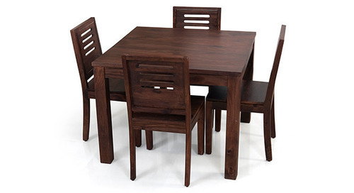 High Quality Kings Crafts Co Dark Brown 4 Seater Dining Table Set