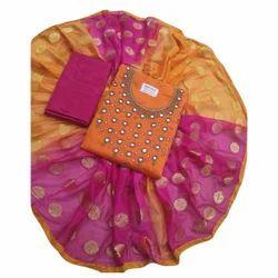 Chanderi Designer Salwar Suit