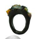 Raw Opal Stone Gemstone Rings
