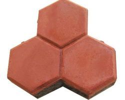 Cement Trihex Shaped Interlocking Tiles, Thickness: 15-25 mm