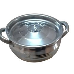 Round SS Serving Pot With Lid, For Hotel/Restaurant, Capacity: 2.5 Litre