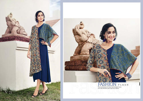Designer Double Layer New Style Gown Kurti