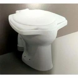 Closed Front White Anglo Indian Floor Mounted Toilet Seat, For Bathroom Fitting
