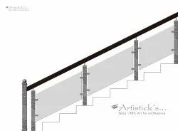 Glass Railing Design for Staircase