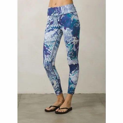 9831e8e2d61bc Nylon Casual Wear Ladies Blue Printed Legging, Size: S, Rs 199 ...