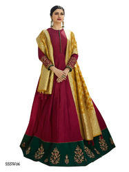 Maroon Silk Beautiful Suit