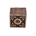 Square Shape Wooden Henna Printing Blocks