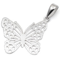 Small Butterfly Silver Pendant