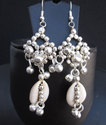 Sea Shell Beaded Necklace Earrings Gypsy Fashion Jewelry