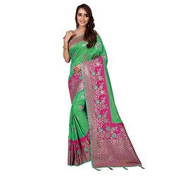 1516 Wedding Wear Jacquard Silk Saree