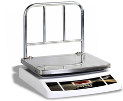 Global Stainless Steel Table top Weighing Scale, Size: 350x350 Mm