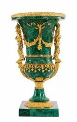 Malachite Brass Vases