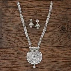 Antique Long Necklace with Matte Rhodium Plating 202887, Size: Length = 18 Inch