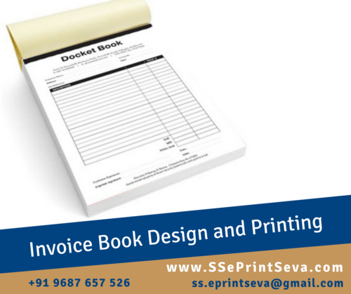 Invoice Book At Rs 45 Piece Stationery Printing Ss Eprint Seva