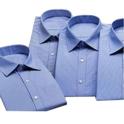 Blue Mens Formal Cotton Shirt, Size: S-XXL