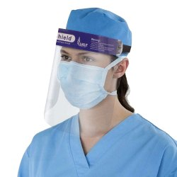 Oriley Orfsn04 175 Micron Disposable Face Shield Full Face Visor With Eye & Head Protection (1 Pc)