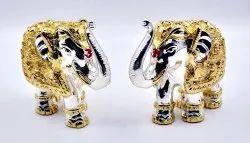 Gold Plated Elephant Idol