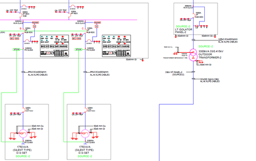 Single Line Diagram  Layout Preparation   Setting Calculations Technical Support At Rs 1000