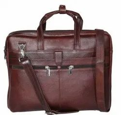 Brown Pure Leather 15.6 inch Laptop Messenger Bag