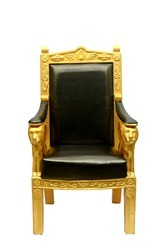 Royal FRP Black Golden Chair