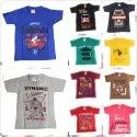 Multicolor Casual Wear Boys Printed Cotton T Shirt, Size: Size 3 - 6 Years