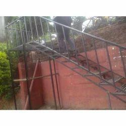 Straight Run Metal Stairs