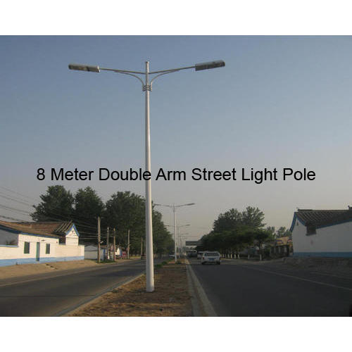 Street Light Pole - 12 Meter Single Arm Street Light Pole
