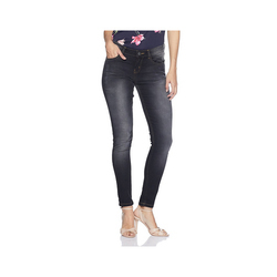 Non-stretchable Black Women Skinny Jeans, Waist Size: 36 And 42