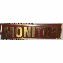 Monitor Brass Badge
