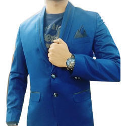Medium And Large Mens Dark Blue Blazer