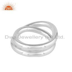 Handmade Designer 925 Fine Silver Womens Band Rings